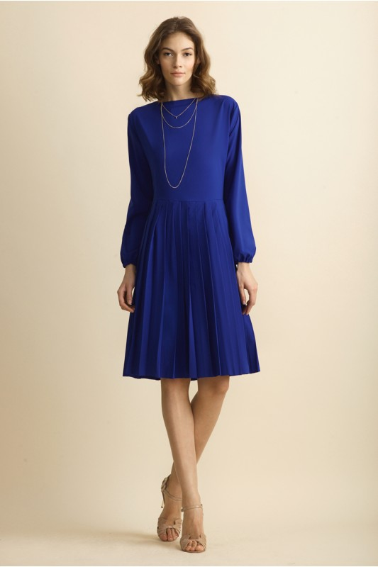 ROYAL BLUE PLEATED