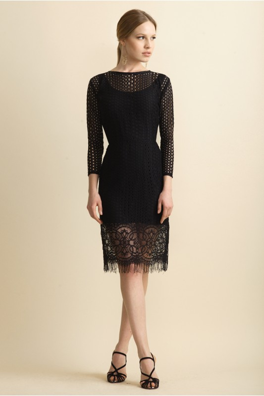 OSCAR LACE DRESS