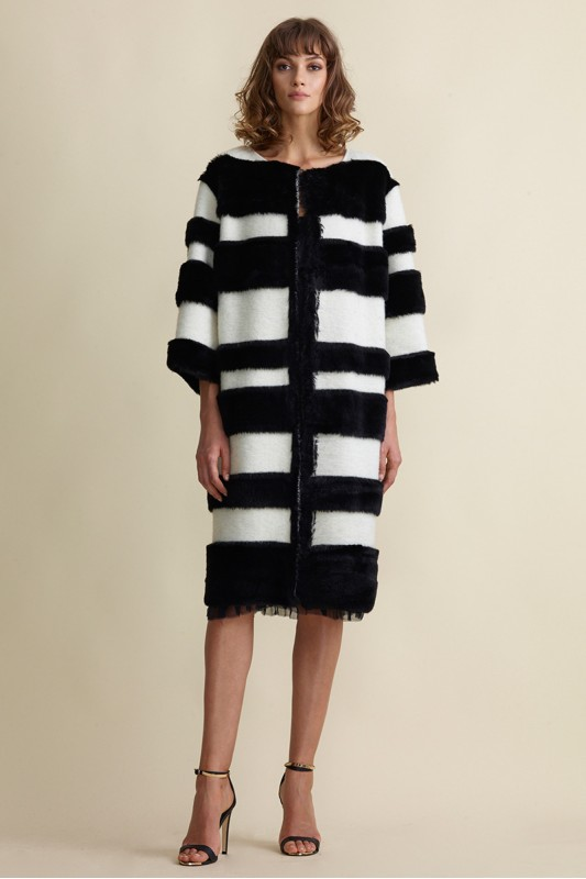 FILIPA WOOL AND FUR COAT