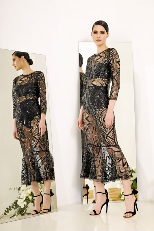 MATHILDE SEQUINED DRESS